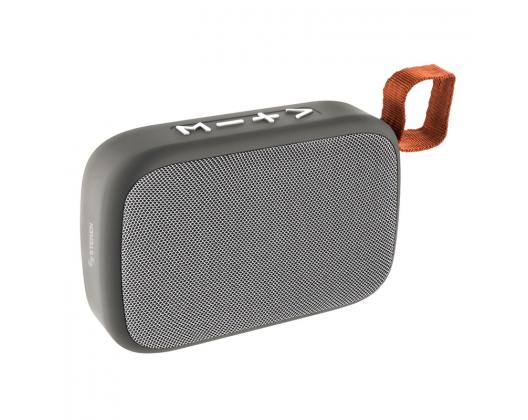 Mini Bocina Steren Portátil USB/ Micro SD Gris Bluetooth