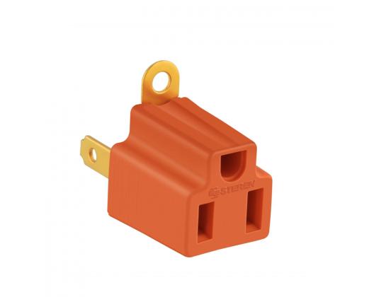 Clavija Adaptadora Steren 905-100 Naranja